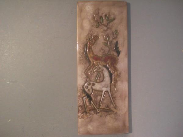 Wandkachel mit Pferden - 50er-Jahre
