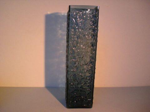 Hohe Vase aus rauchfarbenem Glas - um 1970