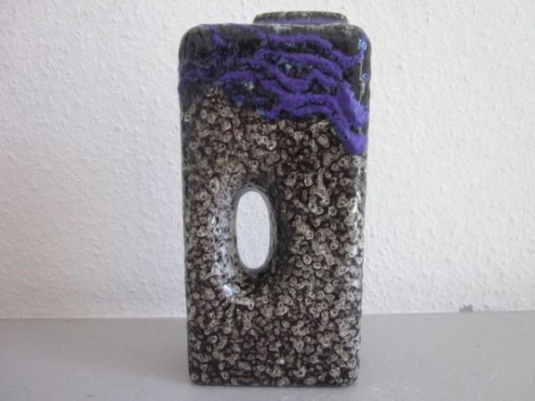 Sehr große violette Lava Lochvase - Roth