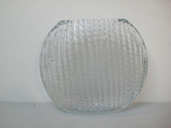 Scheibenvase mit Reliefdekor - Ingridglas