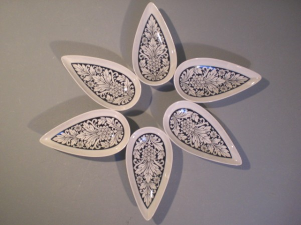 Rosenthal Puzzleschalen mit graphischem Dekor