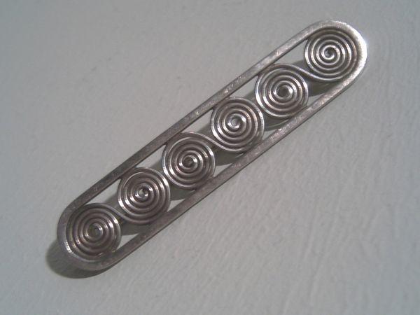 Art Deco Stabbrosche - Sterlingsilber 900