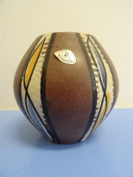 Kleine Kugelvase Ü-Keramik Übelacker 50er 60er Keramikvase Vase