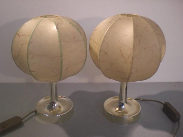 Zwei Nachttischlampen im Cocoon style