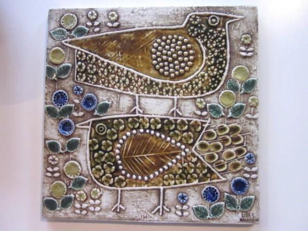Wandbild Keramik - Vögel -Lisa Larson Gustavsberg