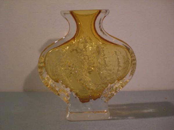 Vase mit gelbem Innenfang - Ingridglas