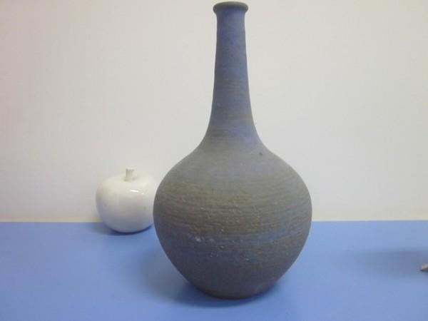 Rudi Stahl grosse Vase Studiokeramik in blau 60er 70er