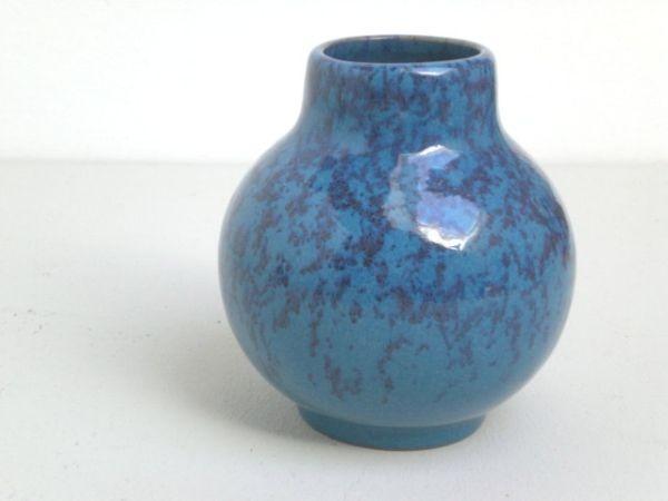 Blaue Vase Karlsruher Majolika - Fridegart Glatzle