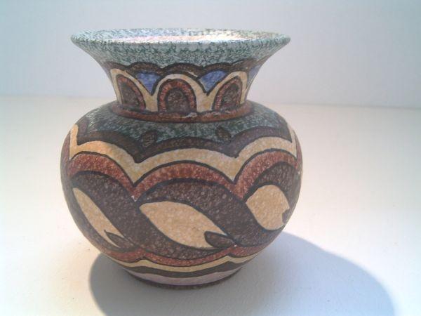Kleine handbemalte Vase Ruscha